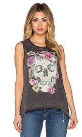 Chaser Garden Skull Tank in Vintage Black from Revolve com at Revolve