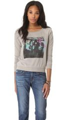 Chaser Eponymous Fleece Raglan Top at Chaser
