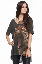 Chaser Jungle Cat Tee at The Trend Boutique