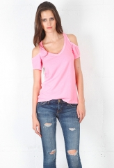 Chaser cold shoulder tee at Singer 22