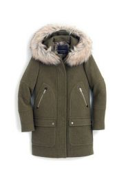 Chateau Parka In Stadium-Cloth green at J. Crew