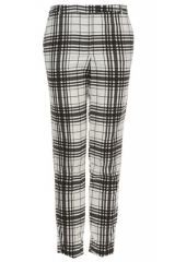 Check Cigarette Trousers at Topshop