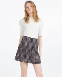 Check Skirt at Zara