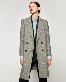 Checked Coat by Zara at Zara