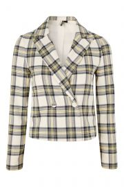 Checked Crop Jacket by Topshop at Topshop