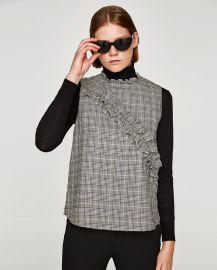 Checked Top by Zara at Zara