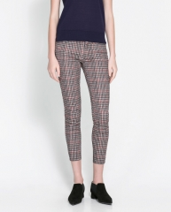 Checked Trousers at Zara
