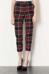 Checked Trousers at Topshop