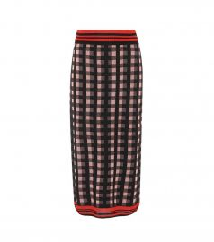 Checked Wool-Blend Midi Skirt by Dries Van Noten at My Theresa