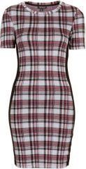 Checked jacquard dress at Topshop