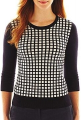 Checked sweater by Liz Claiborne at JC Penney