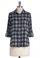 Checks marks the spot top at Modcloth