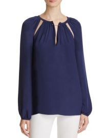 Chelsea And Walker Cutout Silk Blouse at Bloomingdales