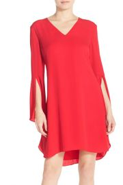 Chelsea28   Bell Sleeve Chiffon A-Line Dress   Nordstrom Rack red at Nordstrom Rack