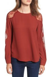 Chelsea28 Lace Inset Blouse at Nordstrom