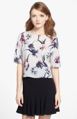 Chelsea28 Floral Print Woven Top at Nordstrom