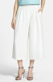 Chelsea28 Pleated Culottes in white at Nordstrom