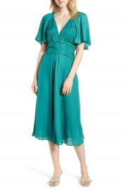 Chelsea28 Ruched Bodice Midi Dress at Nordstrom