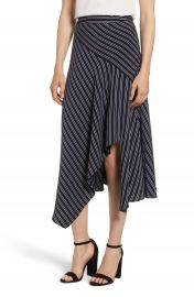 Chelsea28 Stripe Asymmetrical Drape Skirt at Nordstrom