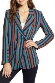 Chelsea28 stripe blazer at Nordstrom Rack