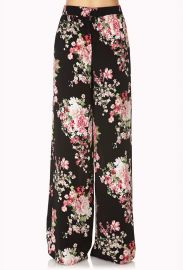 Cherry Blossom Wide Leg Pants at Forever 21