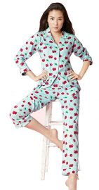 Cherry Hearts Stretch Classic PJ Set by BedHead Pajamas at Amazon