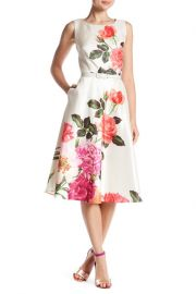 Chetta B Floral Fit and Flare Dress at Nordstrom Rack