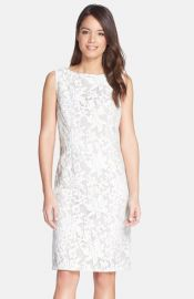 Chetta B Lace Sleeveless Sheath Dress at Nordstrom