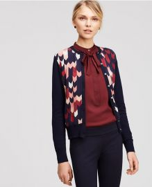Chevron Ann Cardigan at Ann Taylor