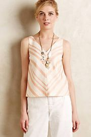 Chevron Midi Top at Anthropologie