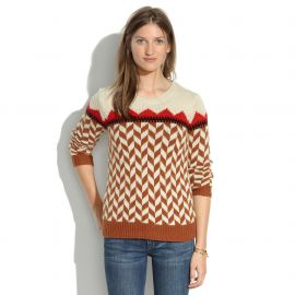 Chevron Ski Sweater at Madewell
