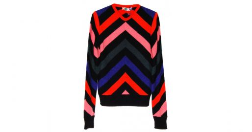 Chevron striped sweater at Hampden Clothing