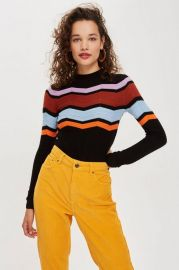 Chevron sweater at Topshop