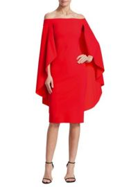 Chiara Boni La Petite Robe Off-The-Shoulder Cape Dress at Saks Fifth Avenue