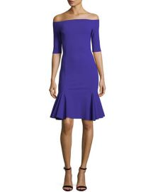 Chiara Boni La Petite Robe Omaira Off-the-Shoulder Cocktail Dress Purple at Bergdorf Goodman