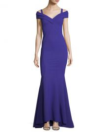Chiara Boni La Petite Robe Tally Cold-Shoulder Mermaid Gown x at Neiman Marcus