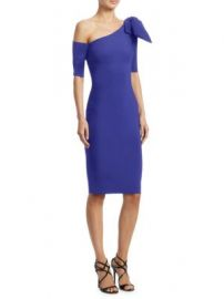 Chiara Boni La Petite Robe - Bow One-Shoulder Dress at Saks Fifth Avenue