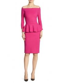 Chiara Boni La Petite Robe - Sina Peplum Sheath Off-The-Shoulder Dress at Saks Off 5th