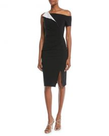 Chiara Boni La Petite Robe Affie Asymmetric One-Shoulder Dress at Neiman Marcus