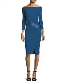 Chiara Boni La Petite Robe Alkestis 3 4-Sleeve Bateau-Neck Cocktail at Neiman Marcus