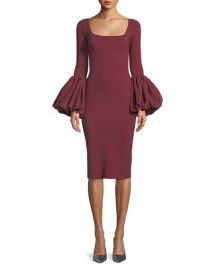 Chiara Boni La Petite Robe Ary Body-Con Dress w  Balloon Sleeves at Neiman Marcus