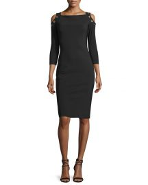 Chiara Boni La Petite Robe Evie Cold-Shoulder Sheath Cocktail Dress at Neiman Marcus