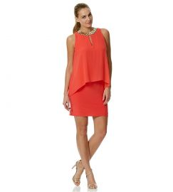 Chiffon Overlay Dress at Dillards