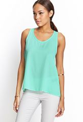 Chiffon Tank in Mint at Forever 21