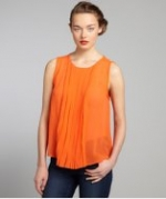 Chiffon pleated blouse by Walter at Bluefly