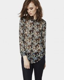 Chiffon shirt in flower print at The Kooples