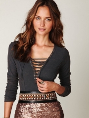 Chilton Lace Up Top at Free People