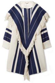 Chlo     Fringed cotton-blend coat at Net A Porter