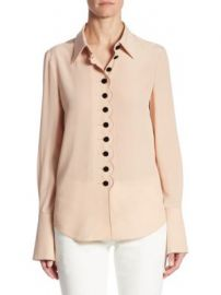 Chlo   - Silk Button-Down Blouse at Saks Fifth Avenue
