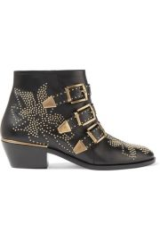 Chlo     Susanna studded leather ankle boots at Net A Porter
